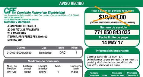 recibo de luz mexico cfe niega aumento en tarifas de electricidad diario marca
