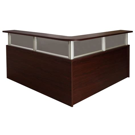 0901 New Mahogany 72 Inch Laminate L Shape Reception Desk Mahogany Reception Desk