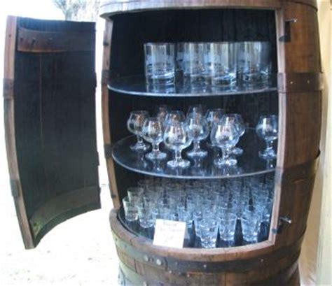 Doors Whiskey Bar by Mini Bars Wine Barrels And Glasses On