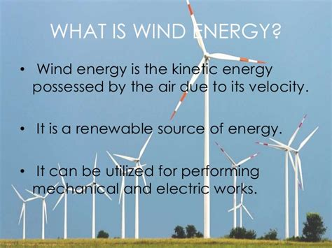 what is the energy wind energy
