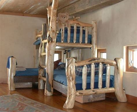 Pine Log Bunk Beds Pine And Fir Custom Bunk Bed Pine And Fir Logs Were Reclaimed From The Gallatin National