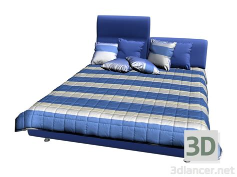 3d model bed invito with 1 high headboard manufacturer