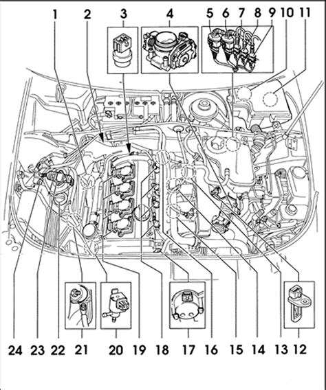 2000 vw passat engine diagram repair guides component locations passat 1 8l