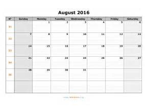 August 2016 calendar wikidates org