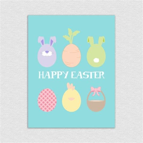 printable easter birthday cards happy easter eggs printable card eastereggs 2 00 l