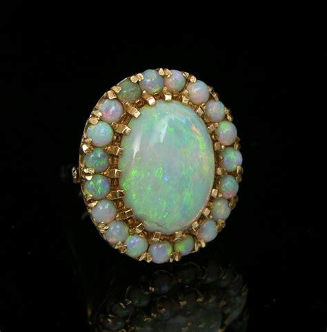 a vintage opal cluster ring in 14k gold 11 21 08 sold
