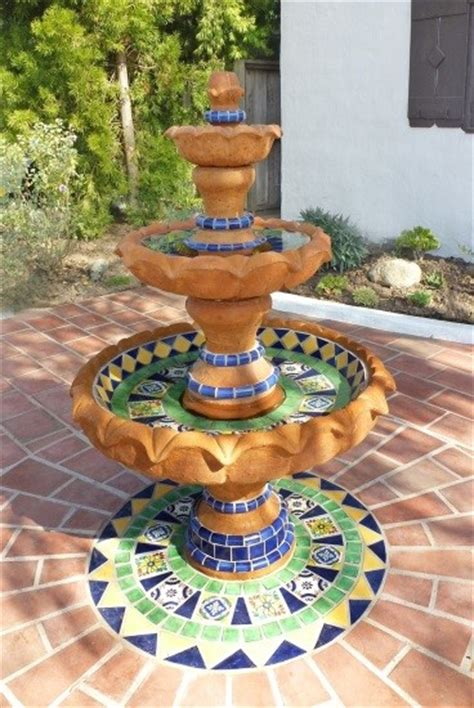 yard decor  beauty   mexican water fountain