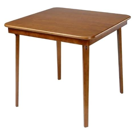 target card table and 4 chairs edge folding card table cherry stakmore 174 target
