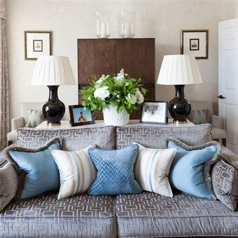 grey and duck egg blue living room sofa step inside this terraced home in housetohome co uk