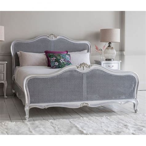 french cane bed chic 6ft french cane bed silver