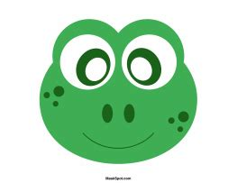 frog mask template     coloring page version