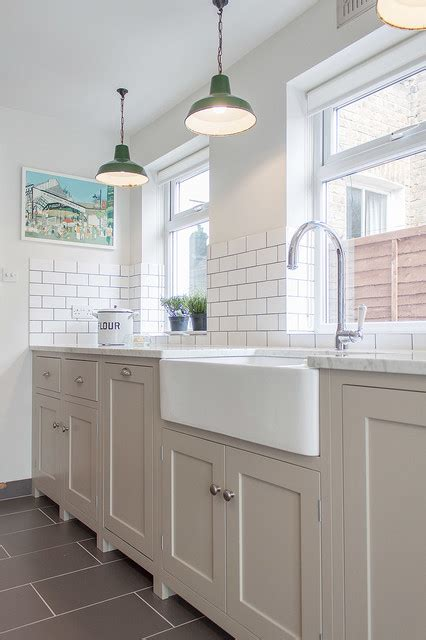 Houzz Painted Kitchen Cabinets the hither green shaker kitchen by devol contemporary