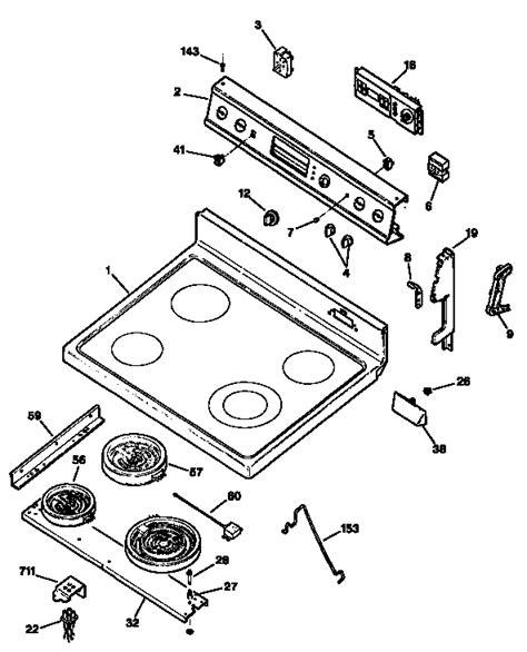 ge electric range parts diagram general electric jbp78gs1bb electric range timer stove