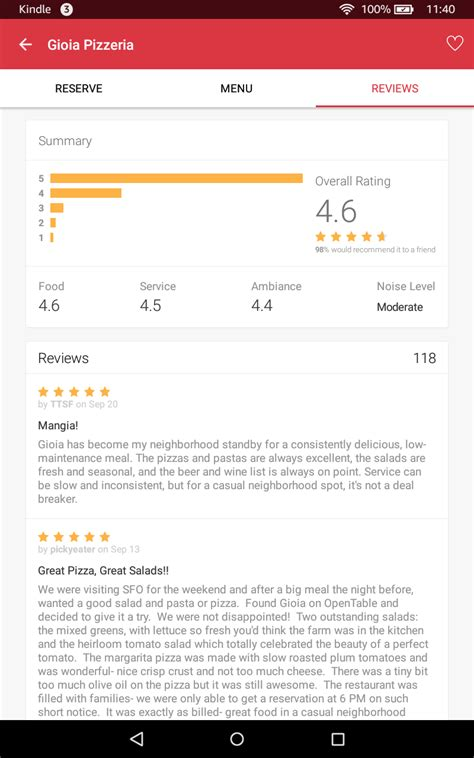 open table gift card review amazon com opentable for kindle free restaurant