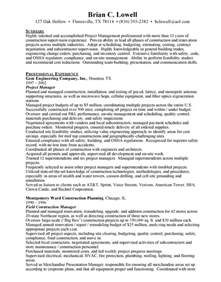 free construction resume templates template 187 construction management