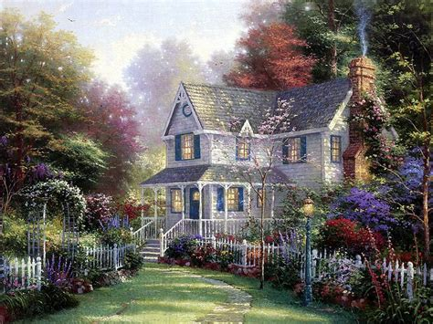 cottage paintings by kinkade inviting front porch cottage paintings by