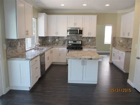 white shaker cabinets with granite after white shaker cabinets with romanix granite yelp