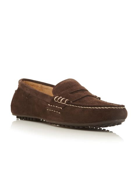 loafers polo polo ralph wes stitch detail suede loafer in