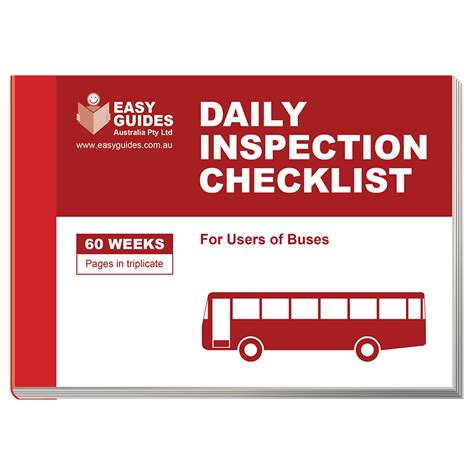daily checklist daily inspection checklist for buses