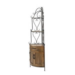 Oak Bakers Rack Safavieh Amh6527a Corner Bakers Rack In Black Iron Med Oak