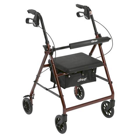 walker houston walker rollator with fold up removable back support