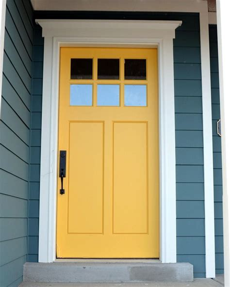 starting to crave a yellow front door diy