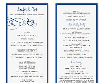 birthday program template 7 best images of blue wedding program templates wedding