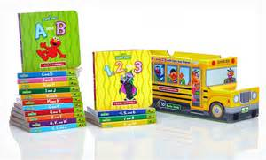 target black friday toy sales groupon sesame street abc s amp 123 s 16 book set only 19