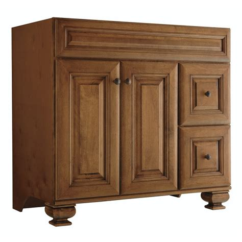 36 inch bathroom vanity lowes shop diamond fresh fit ballantyne mocha with ebony glaze