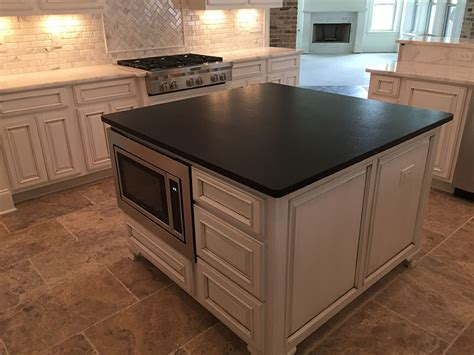 Black Leather Granite Kitchen by Island Countertops Gallery By Luxury Countertops