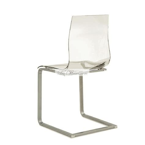 chaise design transparente chaise transparente design gel chaises design par domitalia