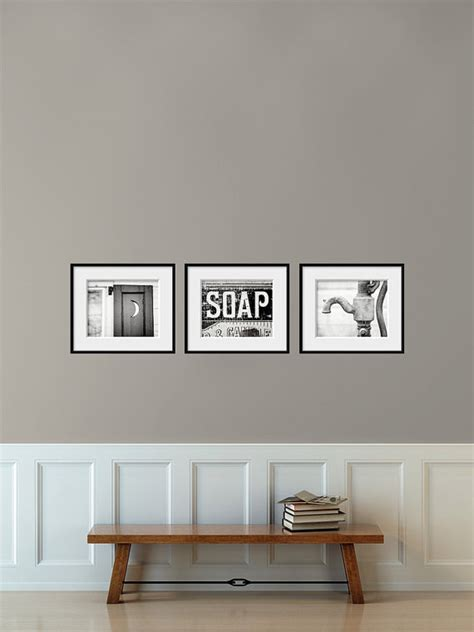 Vintage Bathroom Wall Decor by Bathroom Decor Set Of 3 Photographs Bathroom Set