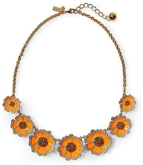 Garden Grove Jewelry Store Kate Spade Garden Grove Graduated Necklace In Orange