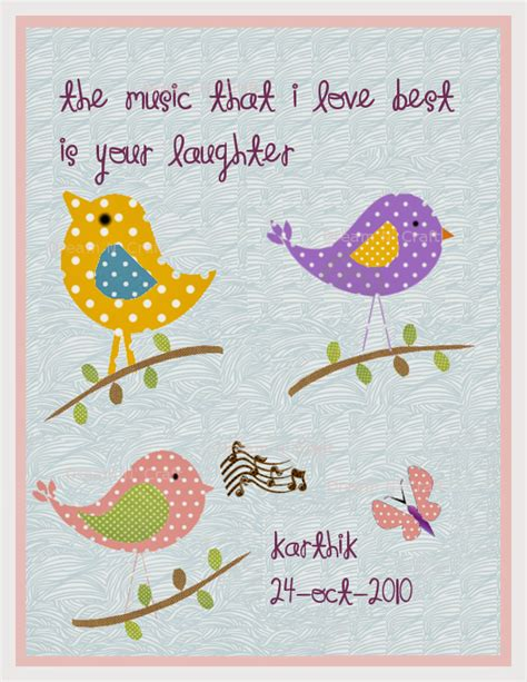 Bird Nursery Decor Dreamandcraft My Shop In Etsy Birds Nursery Print Personalized Pink Baby