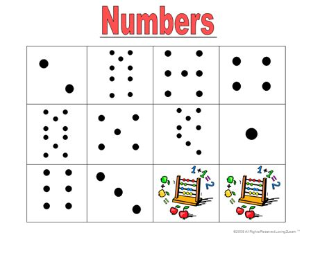 pattern numbers games subitzing numbers to 10