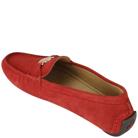 ralph womens loafers ralph s carley suede loafers bright