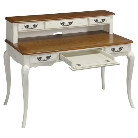 Home Styles French Countryside Oak And Rubbed White White Executive Desk