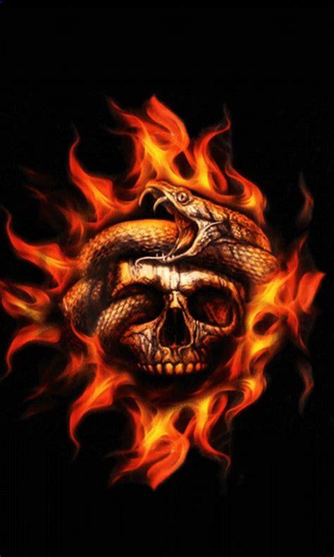fire skull snake  wallpaper apk