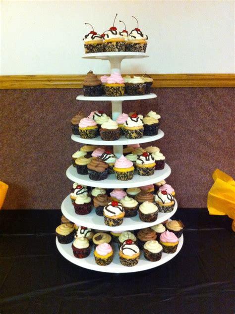 birthday party cupcakes yellow cake wbuttercream dark chocolate wchocolate buttercream