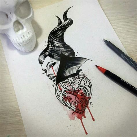 maleficent tattoo maleficent idea disney tattoos