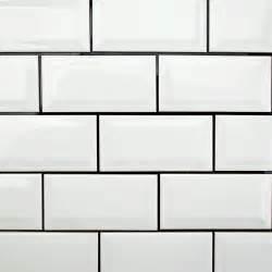 White beveled subway tile amazing tile