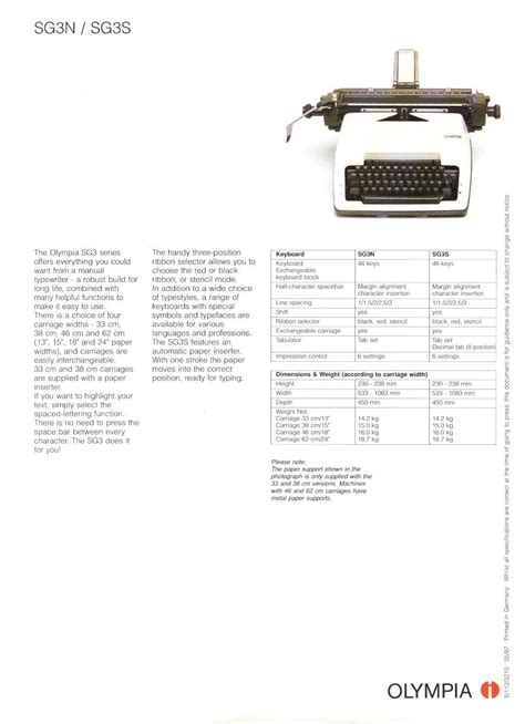 Office Supplies Olympia Manual Typewriter Olympia Manual Total Office Products