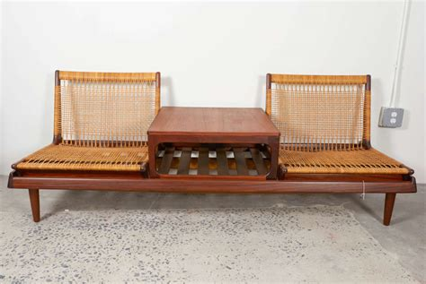 modular settees hans olsen teak and cane modular settee or sofa at 1stdibs