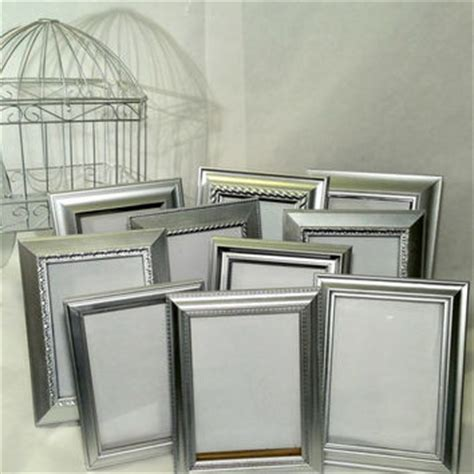 silver frames for wedding table numbers 10 silver table number wedding frames from acottageaffair