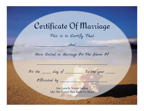 marriage certificate marriage certificate templates free images