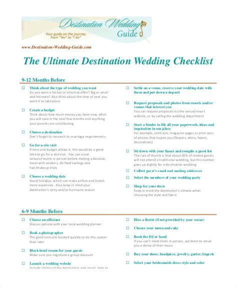 Wedding Checklist Ultimate by Simple Wedding Checklist 23 Free Word Pdf Documents