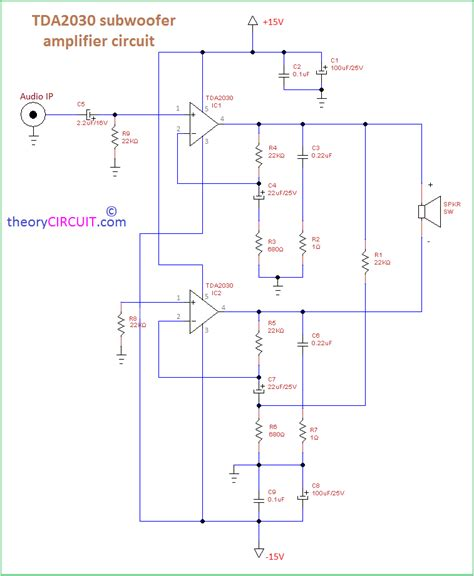 Power Lifier Kit Ic Tda subwoofer lifier circuit diagram style by