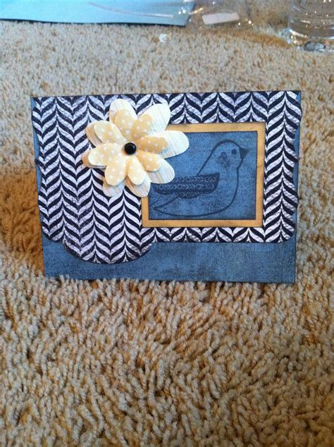 What Does Handmade - handmade bird card baby cards