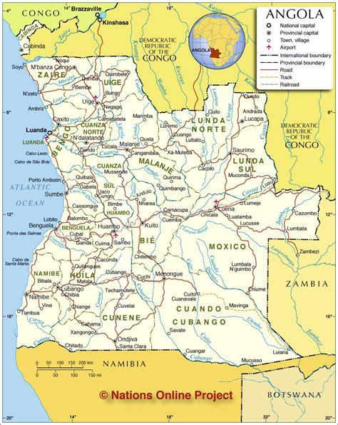 angola map angola maps printable maps of angola for