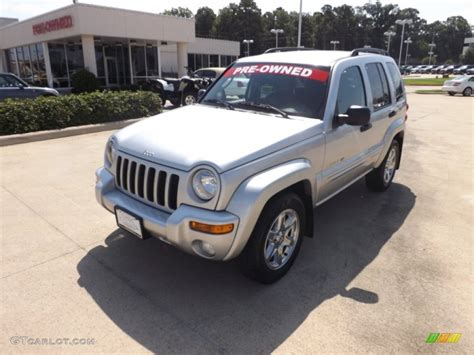 silver jeep liberty 2003 bright silver metallic jeep liberty limited 68829875